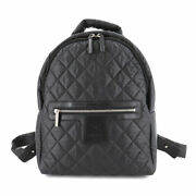 Coco Cocoon Back Pack Nylon Leather Black A92559 Purse 90135972