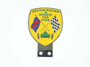 Vintage Car British Racing And Sports Car Club Badge / Front Grill Decal Brass