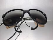 Vintage French Bolle Glacier Sunglasses With Leather Side Shields W/ Case