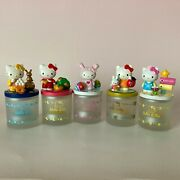 F/s Rare Lots Of 5 Hello Kitty Aroma Candle Holders Ceramic Figures Sanrio