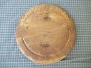 Antique Out-of-round Bread Board Carved Wood Staff Of Life Vintage Primitive