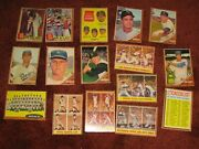 Lot Of 261 Diff. 1962 Topps Baseball Cards Gvg+ Koufax Mays Mccovey Mantle