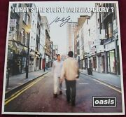 Oasis Whats The Story Morning Glory Creation Records 1995 Mint And Signed Vinyl