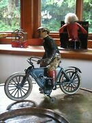 Rare Early Gunthermann Motorcycle Germany 1910 Wind Up Tinplate Antique Tin Toy