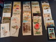 Large Lot 50 Vintage New Years Postcards And Other Greetings -early 1900s