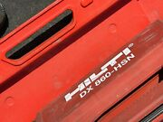 Hilti Dx 860 Hsn Stand Up Metal Roofing Gun / Nailer - Powder Actuated W/case