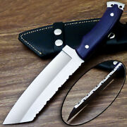 Unique Custom Hand Forged D2 Steel Blade Chopper Knife Micarta Handle Ps-425