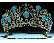 Party Wear Vintage Reproduction 18.32ct. Rose Cut Diamond Silver Crown I854