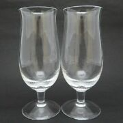 Meissen White Waves Beer Glass Pair Glass Mauser 2 Set Ripples Relief