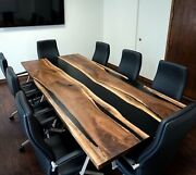 36and039and039x60and039and039 Epoxy Table Natural Wooden Table Black Resin River Dining Table Top
