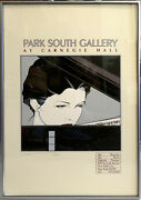 Patrick Nagel Park South Gallery 1979 Signed 80/250 Lifetime-release Serigraph