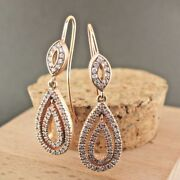 1.65ct Natural Real Round Diamond 14k Hallmark Stamp Rose Gold Earrings F845