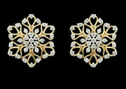 1.15ct Natural Real Round Diamond 14k Hallmark Stamp Yellow Gold Earrings N195