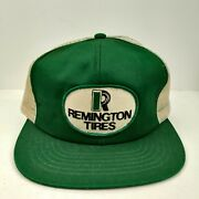 Vintage Usa Made Swingster Remington Tires Patch Trucker Hat Snapback Cap Nos