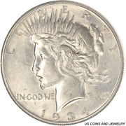 1934-s Peace Silver Dollar Circulated Choice About Uncirculated+ Nice Luster