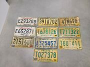 Louisiana License Plate Lot Of Ten Plates 10 - Expired Vintage