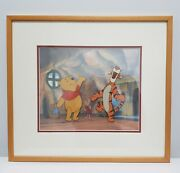Winnie The Pooh Original Production Cel 4 Layers 4 Cels Framed And Matted Coa