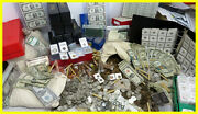 Estate Lot Old Us Coins Gold .999 Silver Bars Bullion Money Hoard Pcgs Old