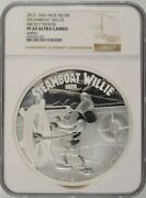 2015 Niue 100 - Mickey Mouse Steamboat Willie 1 Kilo Silver - Ngc Pf69uc