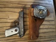 Rare Halco Army Holster Belt With Army Belt Buckle Hubley Working 45 Cap Gun