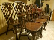 Nichols And Stone Antique Set Of Windsor Chairs