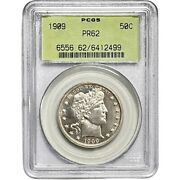1909-p Barber 50c 50 Cent Half 1/2 Dollar Silver Coin Pcgs Proof Pr62 Old Holder