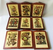 Hummel Wooden Wall Pictures Set Of 9 Wood Plaques Boys And Girls Vintage Decor