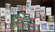 Lot Of 32 Hallmark Frosty Friends Ornaments Ranging From 1981 2018 + Specials
