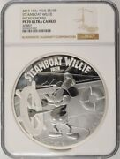 2015 Niue 100 - Mickey Mouse Steamboat Willie 1 Kilo Silver - Ngc Pf70uc