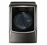 Lg - Signature 9.0 Cu. Ft. Smart Electric Dryer With Steam-black Stainless Steel