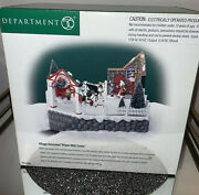 Dept 56 Village Animated Photo With Santa With Figures City Lighted 5652790 New