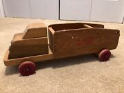 Very Rare Vintage Wooden Toy Fire Truck, American Crayon Company