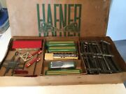 Hafner Prewar 1010 Steam Train Set In Orig.box With Station And Signals And Track