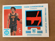 2021/22 Panini Cade Cunningham Chronicles Encased Patch Rc Rookie 1/1 1