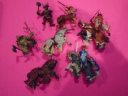 Vtg Papo Toys Fantasy Knights/horses/monsters Group Lot Of 9 All Mint Loose