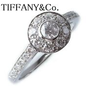 And Co. Ring Platinum Diamond Circlet Ring Us Size 5-5.5 Auth