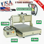 1.5kw Usb Port 4axis 6090cnc Router Drill Engraver Engraving Machine Woodworking