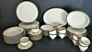 74 Piece Service For 12 Lenox Patriot Presidential Collection Gold Verge