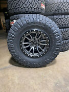 17x9 Fuel D680 Rebel Gray Wheels 35 Nitto At Tires 6x5.5 Toyota Tacoma 4runner