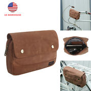 Tourbon Waxed Canvas Bicycle Frame Under Seat Tool Pouch Handlebar Pannier Bag