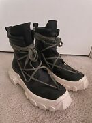 Rick Owens Ss18 Dirt Tractor Leather Boots - Size Eu 42/ Us 9