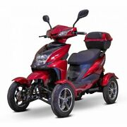 Red 4 Wheel Electric Sport Mobility Scooter Digital Display Alarm Heavy Duty
