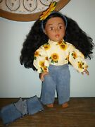"""2009 Madame Alexander Doll Company African American 18"""" Black Curly Hair Dressed"""