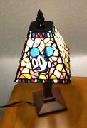 Mickey Minnie Mouse Handstand Light Table Lamp Stained Glass Tokyo Disneysea Fs