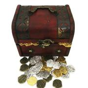 Seven Seas Pirates Toy - Golden And Silver Coins With Treasure Chest - Lot Of 200
