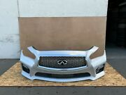 Infiniti Q50 2014-2017 Oem Front Bumper With Grills Assembly Sport/ Silver