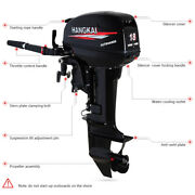 246cc 2 Stroke 18hp Outboard Motor Tiller Control Fishing Boat Engine Water Cool