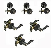 Dynasty Hardware Cp-her-12p Heritage Front Door Entry Lever Lockset And Singl...