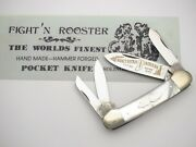 Fight'n Rooster, Frank Buster Celebrated Cutlery Germany. Four-blade Canoe Pearl