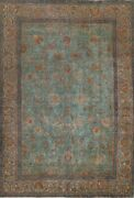 Antique Traditional Overdyed Oriental Area Rug Evenly Low Pile Hand-knotted 7x9